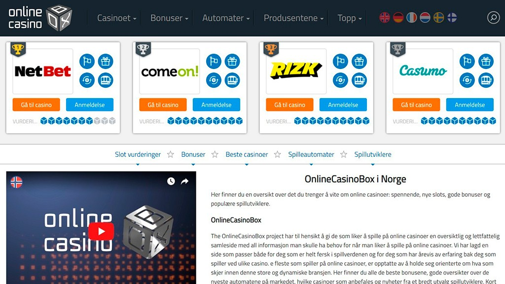 SoloAzar International | OnlineCasinoBox: Launch of the New